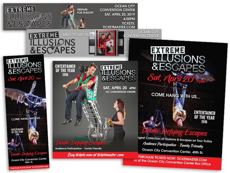 Ocean Entertainment Group Extreme Illusions and Escapes campaign